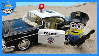 Minions became police officers. Would you like to play a police role in a police car?