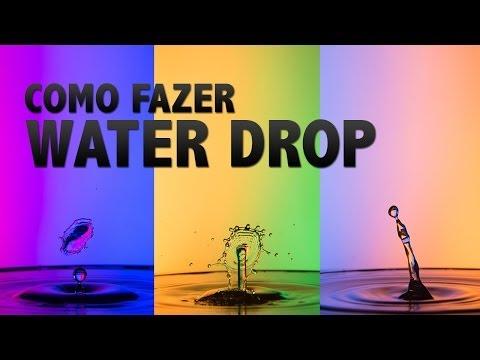 Dicas de Fotografia - WATER DROP (Gotas de Agua)