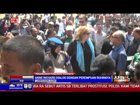 Pejabat USA Kunjungi Pengungsi Rohingya di Aceh