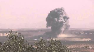 Russian AF bombing ISIS position near Khan Sheikhoun, Syria