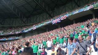 Northern Ireland fans singing