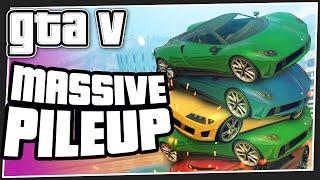 MASSIVE PILEUP - GTA 5 Online (GTA V Funny Moments)