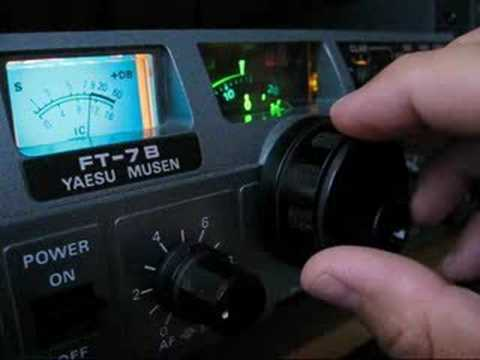 Testing Yaesu FT-7B on CW mode