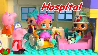 LOL Surprise Doll Falls Off Spirit Riding Free Peppa Pig Hospital