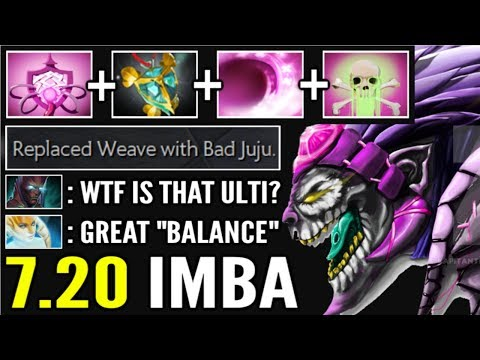 NEW IMBA HERO 7.20 Dazzle New Broken Ultimate Bad Juju + Holy Locket Endless Poison WTF Dota 2
