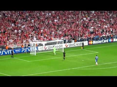 Champions League Final 2012 - Chelsea vs Bayern Munich climax of penalty shootout