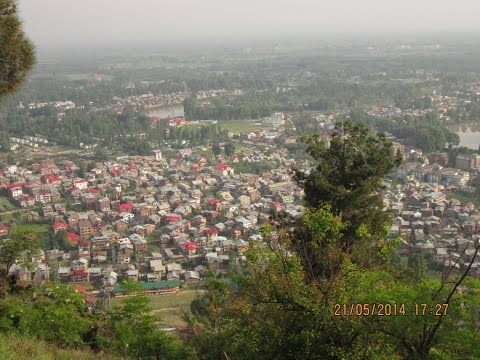 Srinagar City View From Shankaracharya Temple - Kashmir Tourism Video