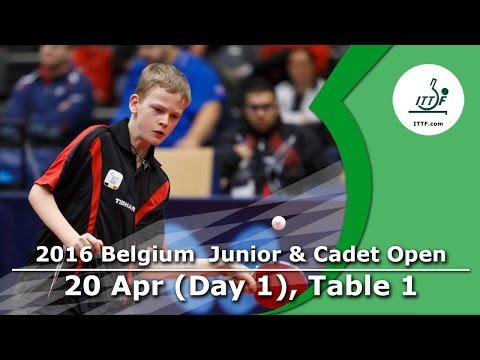2016 Belgium Junior & Cadet Open - Day 1 LIVE (TABLE 1)
