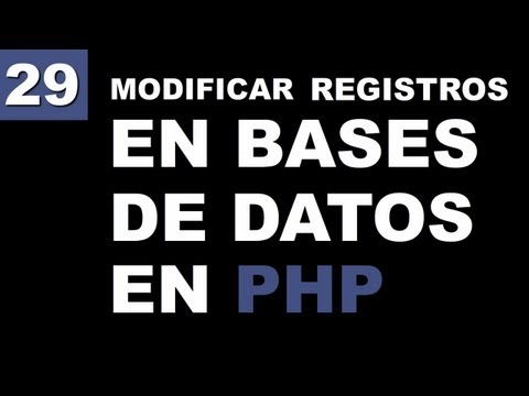 Cómo Modificar Registros en una Base de Datos en PHP