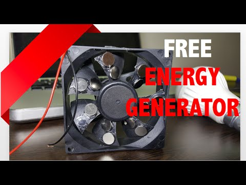 Free Energy Generator Homemade Using Magnet And CPU FAN - Free Green Power Energy