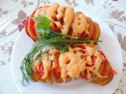 Вкусный картофель с помидором и сыром. Слегка отварите картофель до полуготовности.