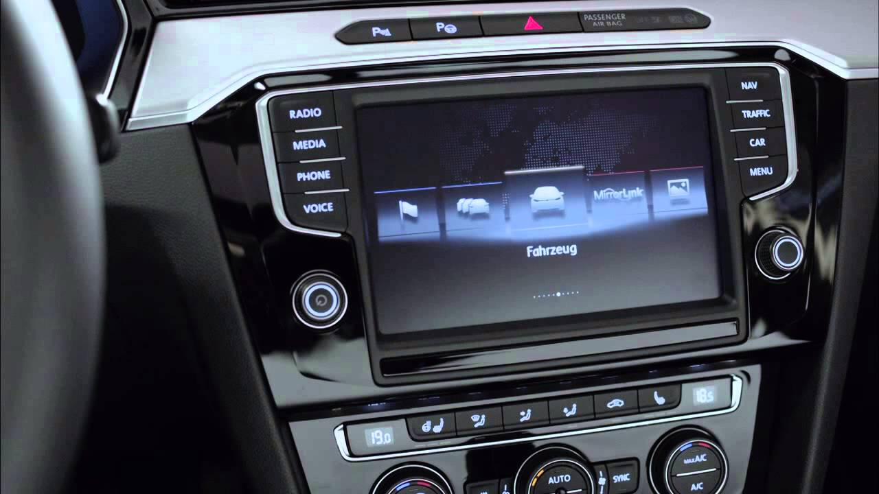 2015 Volkswagen Passat B8 - Interior - YouTube
