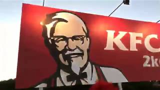 Ronald McDonald VS KFC Sign (LIVE)