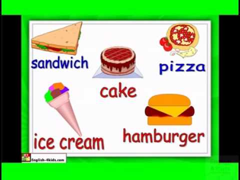 English For Children,esl Kids Lessons - Food And Eating - Hamburger, Ice Cream, Chocolate.flv video