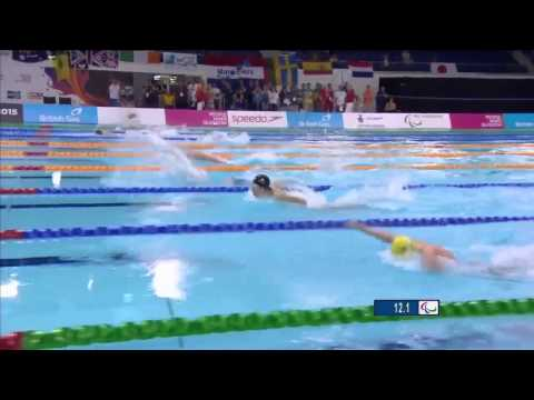 Tim Hodge - 2015 IPC Swimming World Champs - Men's 100m Butterfly S9 Heat