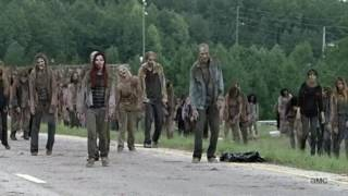 Rick And Michonne Kill Walkers With Car Scene