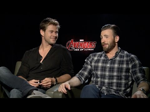 "Chris Hemsworth and Chris Evans on Marvel's ""Avengers: Age of Ultron"""
