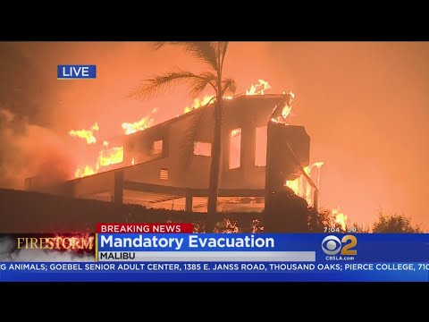 Homes Burning In Malibu As Woolsey Fire Stretches To PCH
