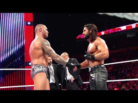 Randy Orton and Seth Rollins engage in a vicious back-and-forth