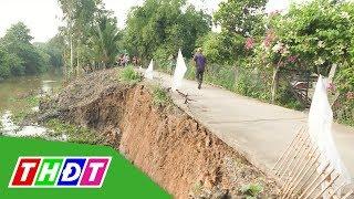 Đồng Tháp: Thuê máy hút bùn trên sông làm sạt lở lộ nông thôn | THDT