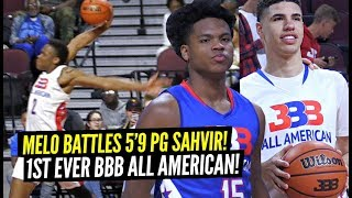 "LaMelo Ball BATTLES 5'9"" PG Sahvir Wheeler in 1st Ever BBB All American Game!! CRAZY HIGHLIGHTS!!"