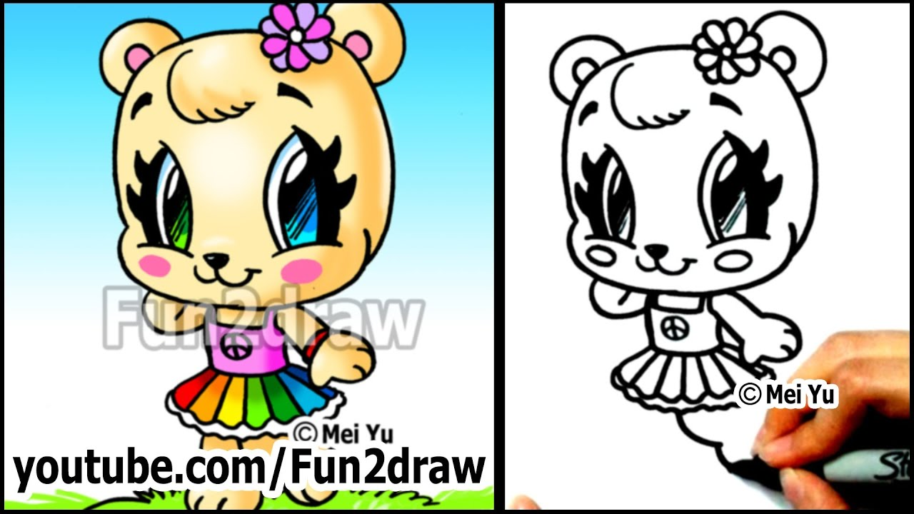 How to Draw Cute Little Girl Cute Animals How to Draw a