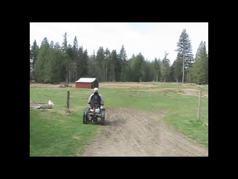 All terrain track chair