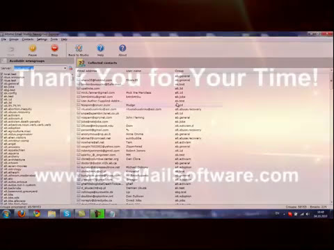 Email Marketing 2010 - Crawling 1,500,000 Emails from NewsGroups using free NNTP Server