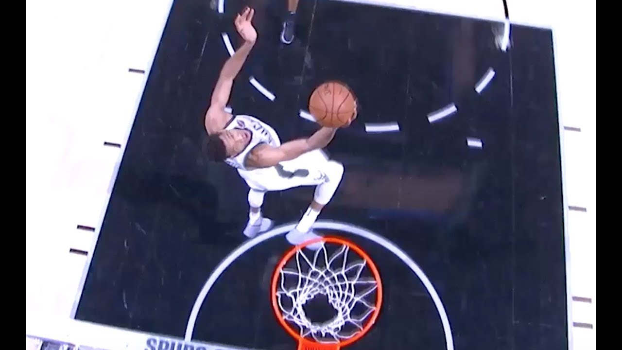 Bucks' Giannis Antetokounmpo Floats for Reverse Dunk vs. Spurs