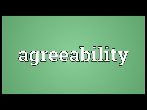 Header of Agreeability