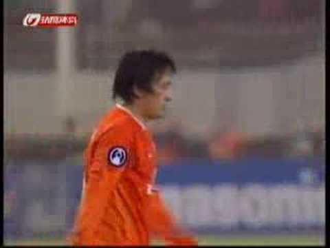 2007 AFCCL LNTS v Seong: Wang YongPo wonderful hit ! 80' Wang YongPo wonderful hit ! 2007 AFC Champions League group stage Shandong Luneng Taishan (China) v ...