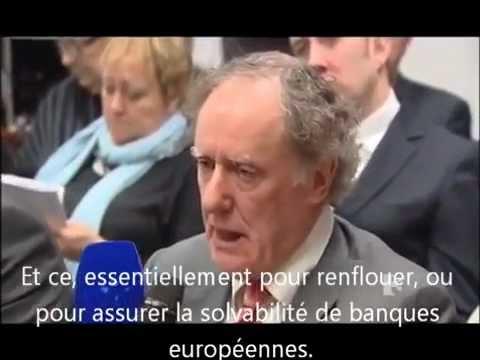 Irlande - Un Vrai Journaliste face à la BCE... La Mafia bancaire face au peuple