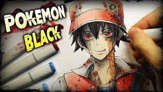Pokemon Creepypasta - Creepy Black Version (Anime Drawing + Horror Story)