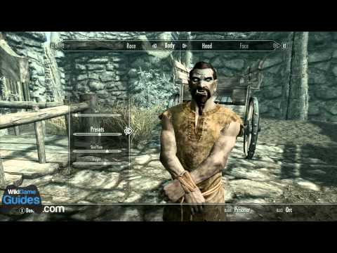 Skyrim Character Creation - Starting Orc Race Overview