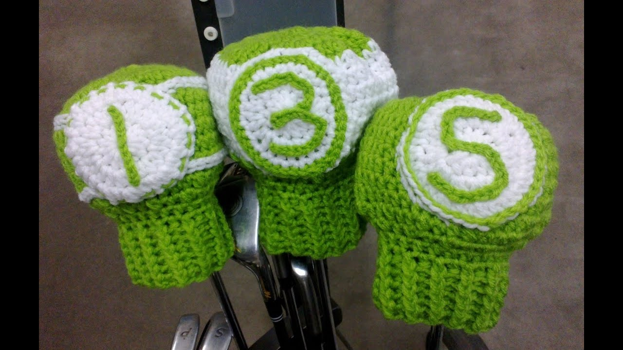 Crochet Patterns Golf Club Covers Free : Golf Club Covers Crochet Tutorial - YouTube