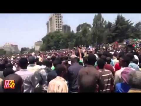 Semayawi Party Demonstration in Addis Ababa June 2, 2013