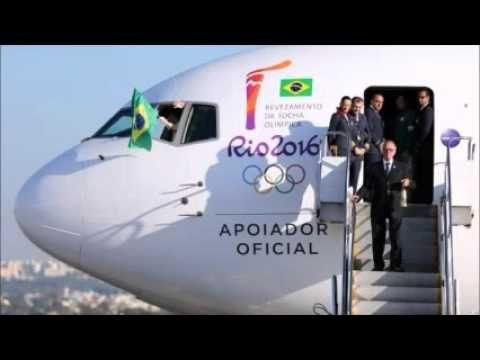 Olympics 2016: Flame arrives in Brazil ahead of Rio Games