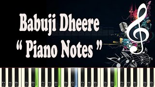 download lagu Babuji Dheere - Piano Notes gratis