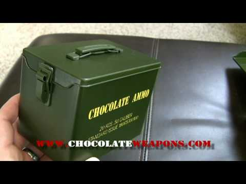 Chocolate Bullets & Mini Ammo Can :  Video Review from www.ChocolateWeapons.com