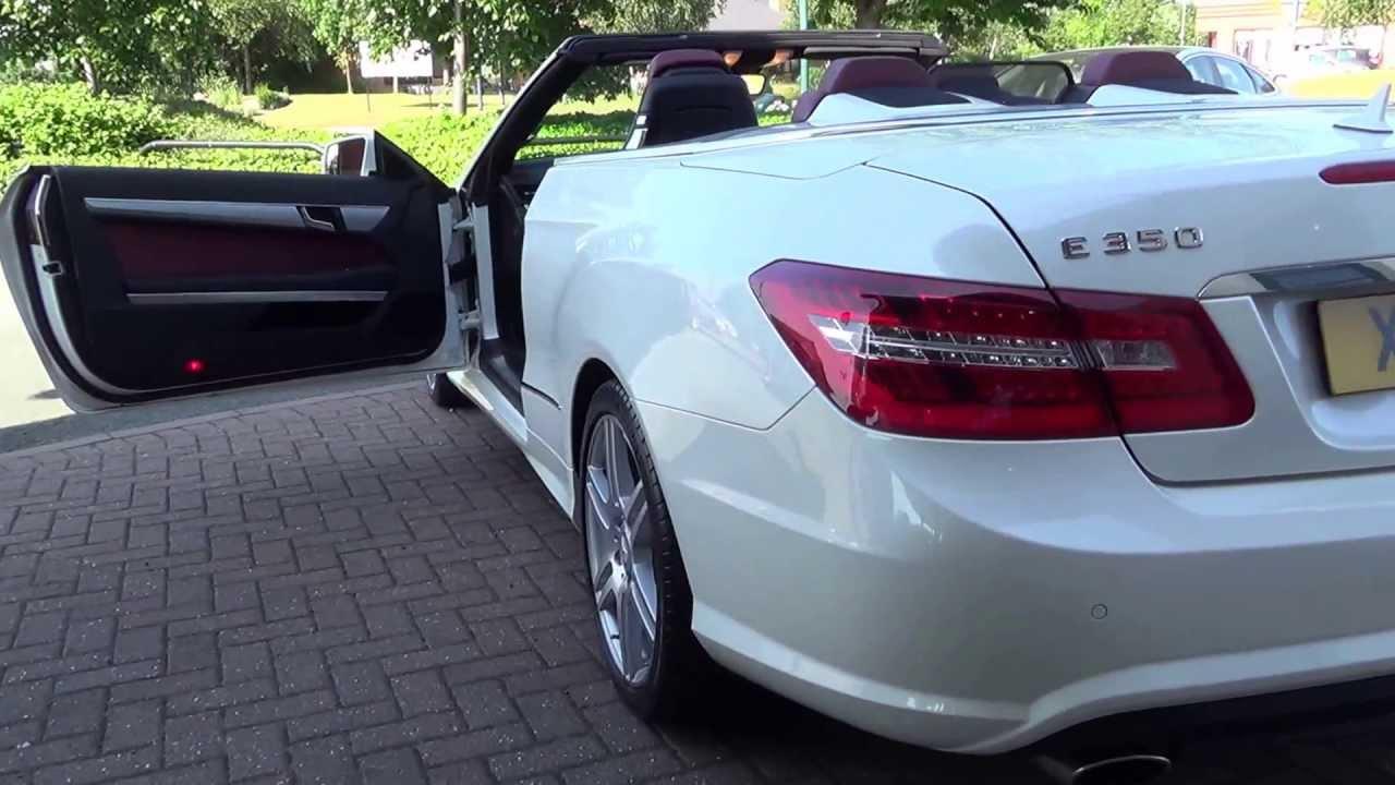 Mercedes E350 Cdi Sport Convertible 2011 Pearl White
