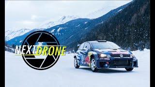 DJI Mavic 2 Pro - Rally Car on ICE - WRC - VW Polo - 2019 - Winterfahrtraining
