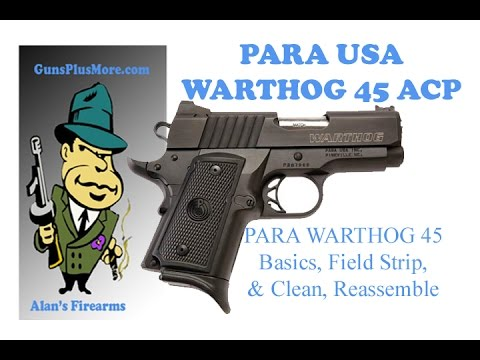 Para USA 1911 Warthog.  Field strip. clean. and Reassemble plus the basics