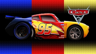 Disney Pixar Cars 3 Lightning McQueen Cruz Ramirez Jackson Storm Transforming Videos for Kids & Song