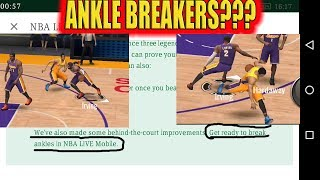 ANKLE BREAKERS IN THE NEW UPDATE! ANKLE BREAKERS IN NBA LIVE MOBILE! SUMMER COURTS PACKS!