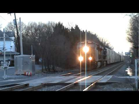 ES44AC #888 known as triple 8s engine leads the juice train through Riverdale Park, MD with ES40DC #5462. This engine #888 reminds me the incident of crazy e...