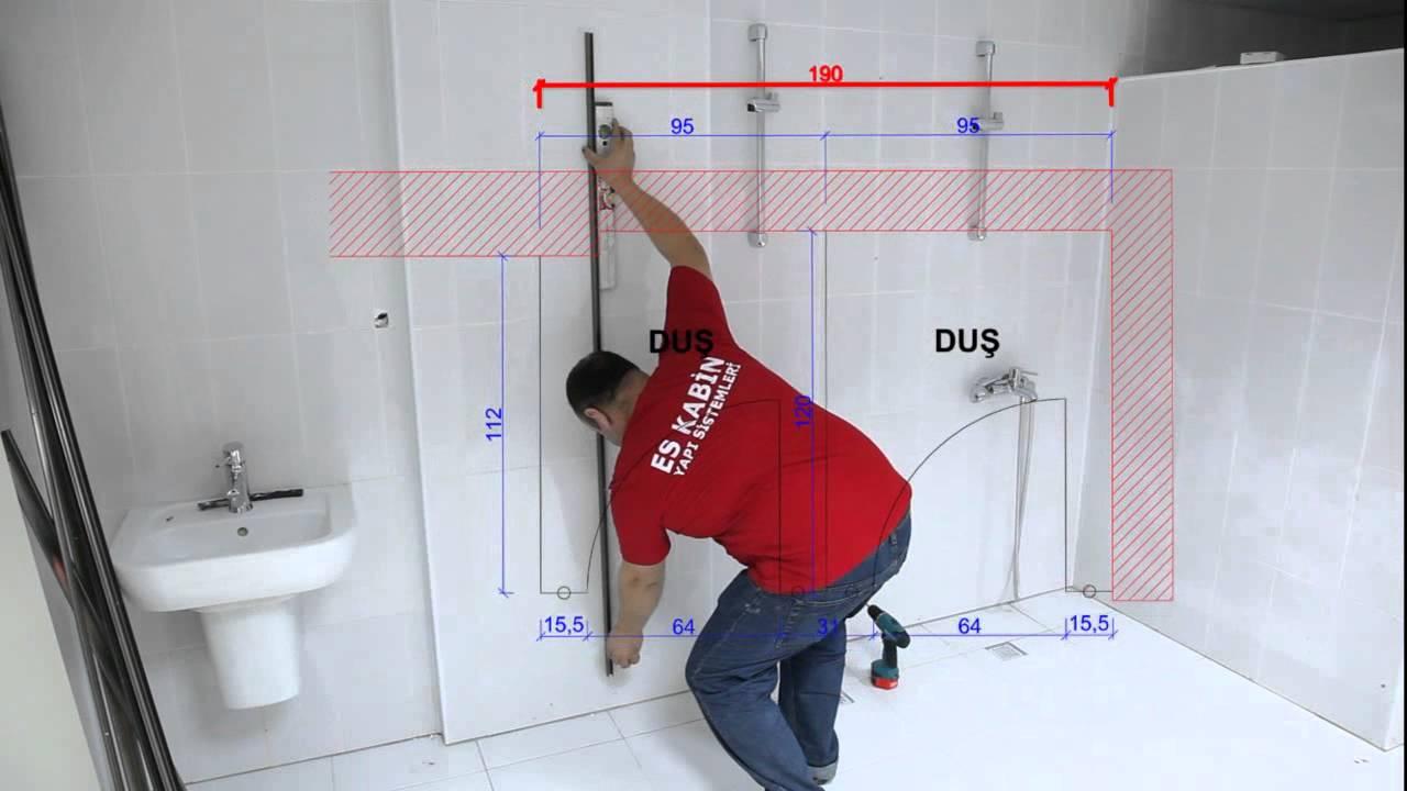 es kabin installation of compact laminate toilet partition compact laminat tuvalet kabini