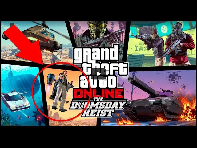 GTA V - END OF THE MYSTERY OF JETPACK, NEW DLC TO HEIST OF THE END OF THE WORLD