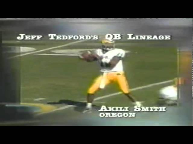 Jeff Tedford's QB lineage profiled during the Cal-Oregon game 11-08-03