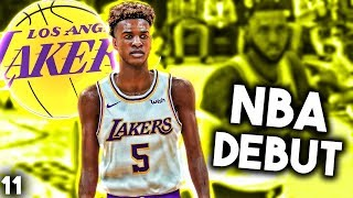 BRONNY NBA DEBUT WITH LAKERS - NBA 2K19 Lebron James Jr MyCareer Ep.11