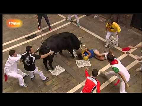SAN FERMIN 6º ENCIERRO GANADERIA EL PILAR 12- 07 -2013